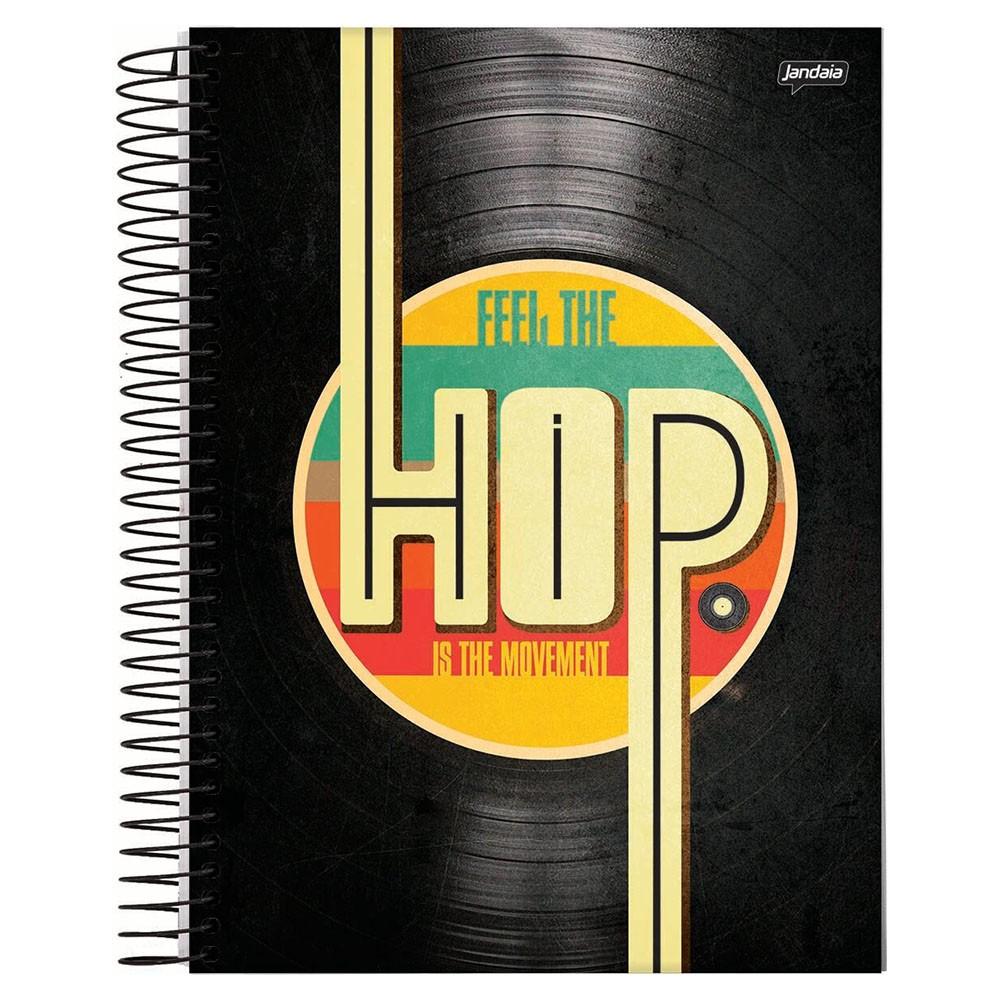 Caderno Universitário 1x1 CD 96 Folhas Hip Hop 1 Jandaia