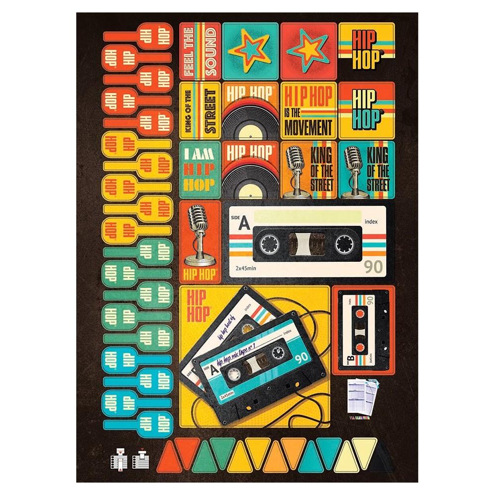 Caderno Universitário 1x1 CD 96 Folhas Hip Hop 2 Jandaia  - INK House