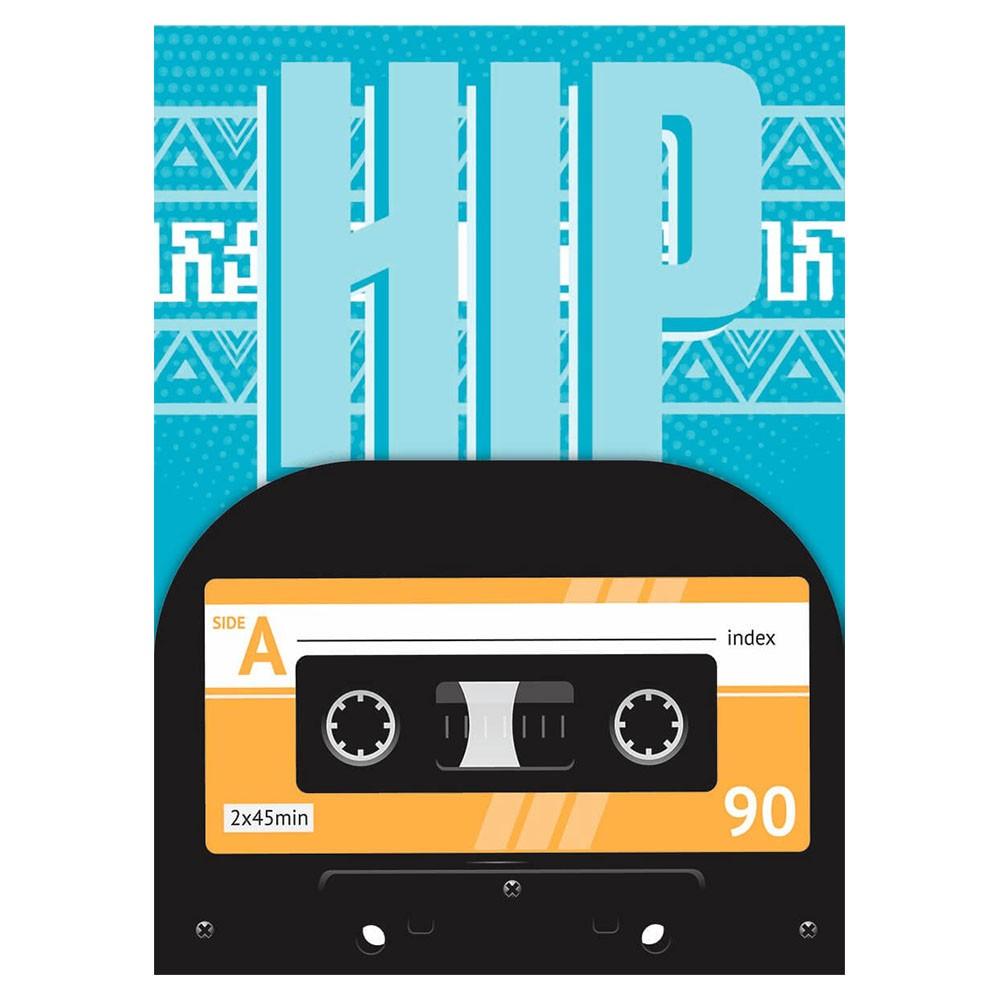 Caderno Universitário 1x1 CD 96 Folhas Hip Hop 3 Jandaia