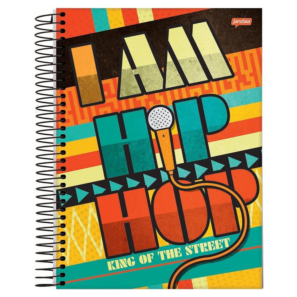 Caderno Universitário 1x1 CD 96 Folhas Hip Hop 4 Jandaia  - INK House