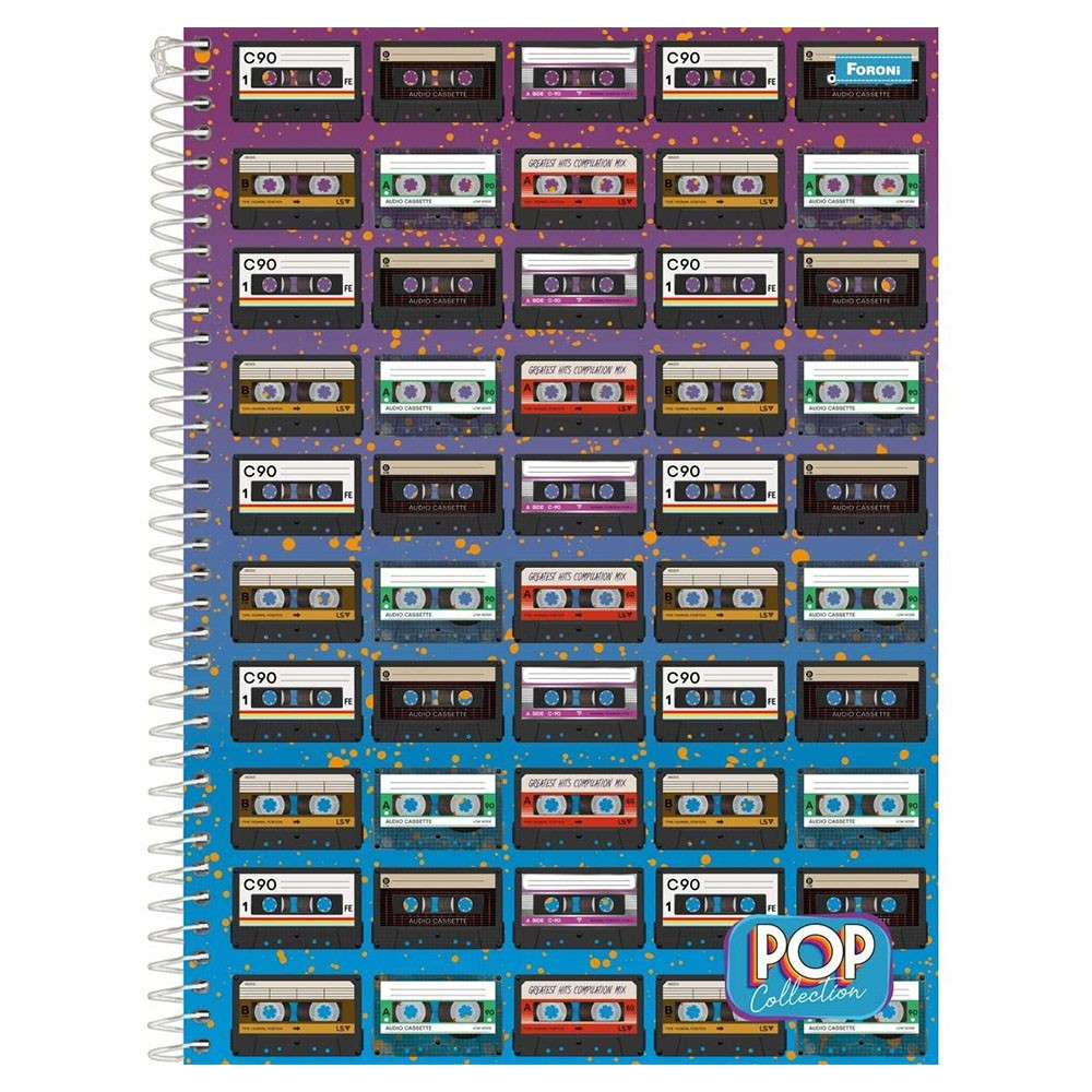 Caderno Universitário 1x1 CD 96 Folhas Pop Collection 2 Foroni  - INK House
