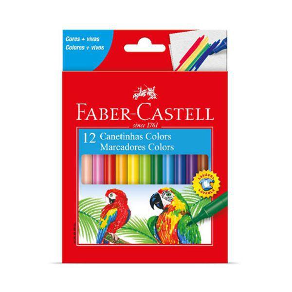Caneta Hidrográfica 12 Cores Faber Castell  - INK House