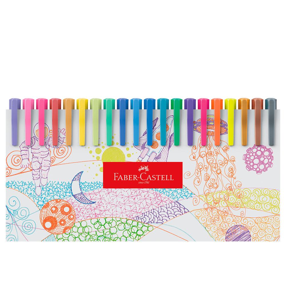 Caneta Hidrográfica Fine Pen 0,4mm 60 Cores Faber-Castell