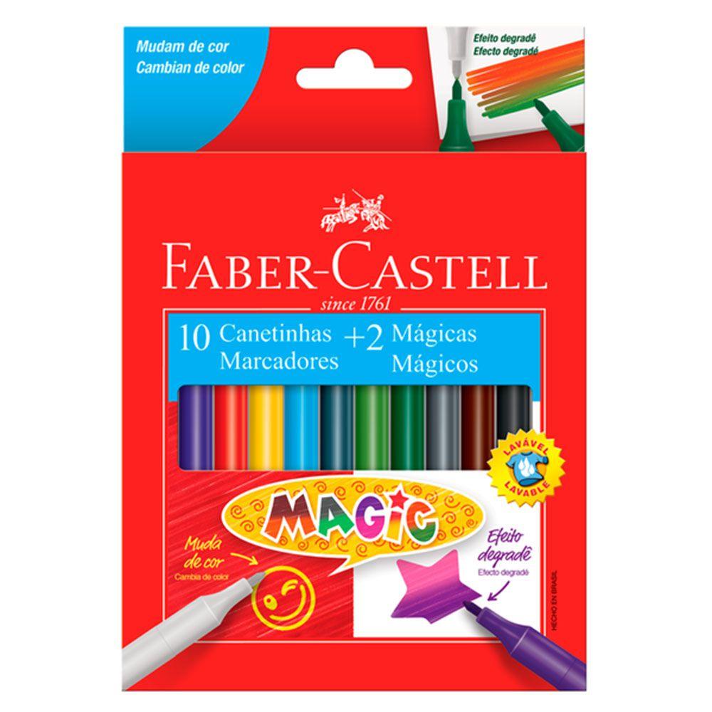 Caneta Hidrográfica Magic 10 Cores + 2 Mágicas Faber Castell  - INK House