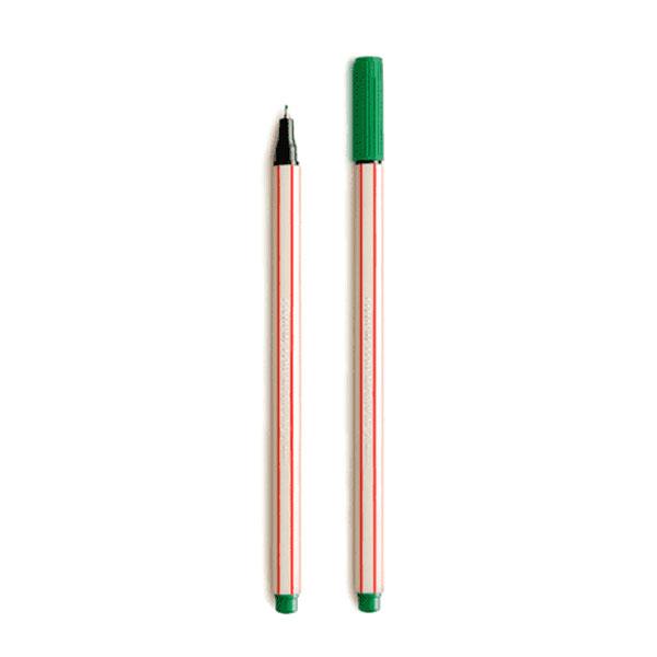 Caneta Hidrográfica Microline 0.4 Verde Escuro Compactor