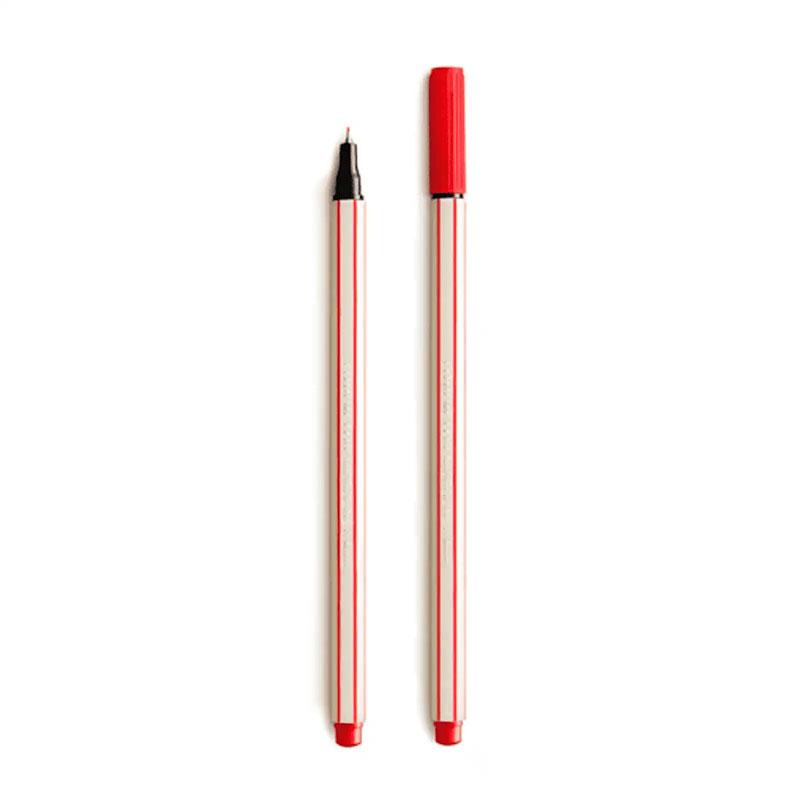 Caneta Hidrográfica Microline 0.4 Vermelha Compactor
