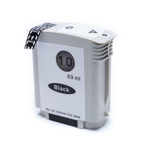Cartucho Compatível HP 10 C4844A 1000 1100 1200 2200 2300 2600 2800 3000 1700 2500 - Preto