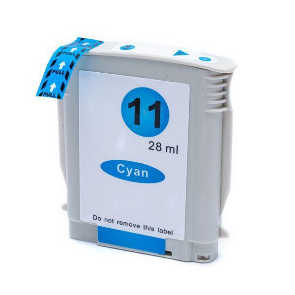 Cartucho Compatível HP 11 C4836A 1000 1100 1200 2200 2300 2600 2800 3000 1700 2500 - Ciano