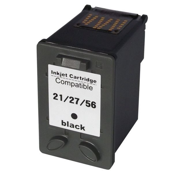 Cartucho Compatível HP 21XL 27XL 56XL Preto  - INK House