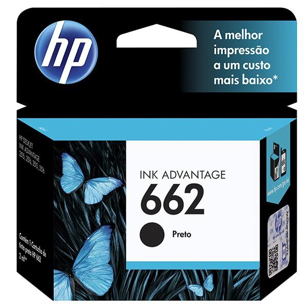 Cartucho HP 662 Preto Original CZ103AB p/ HP 1015 1510 1518 2516 2546 2646 3516  - INK House