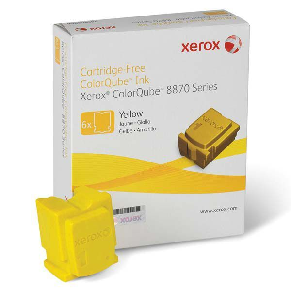 Cera Original Xerox Colorqube 8870 8880 108R00960 - Amarela - Caixa c/ 6 unidades  - INK House
