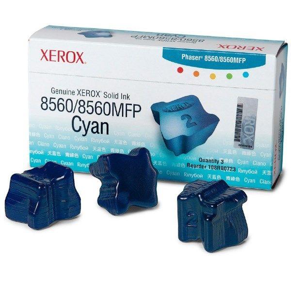 Cera Original Xerox Phaser 8560 108R00764 - Ciano - Caixa c/ 3 unidades  - INK House
