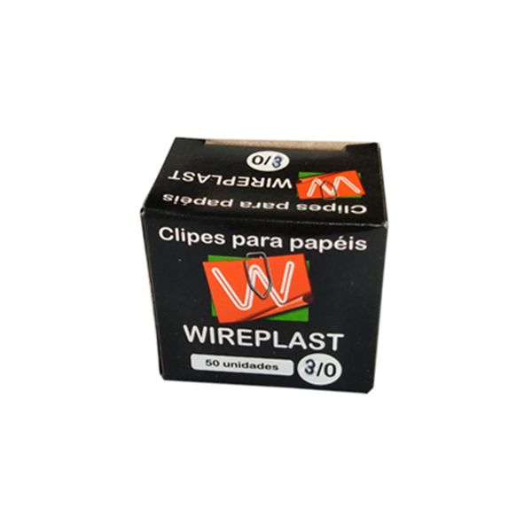 Clips nº 3/0 Galvanizados Caixa c/ 50 unidades Wireplast  - INK House