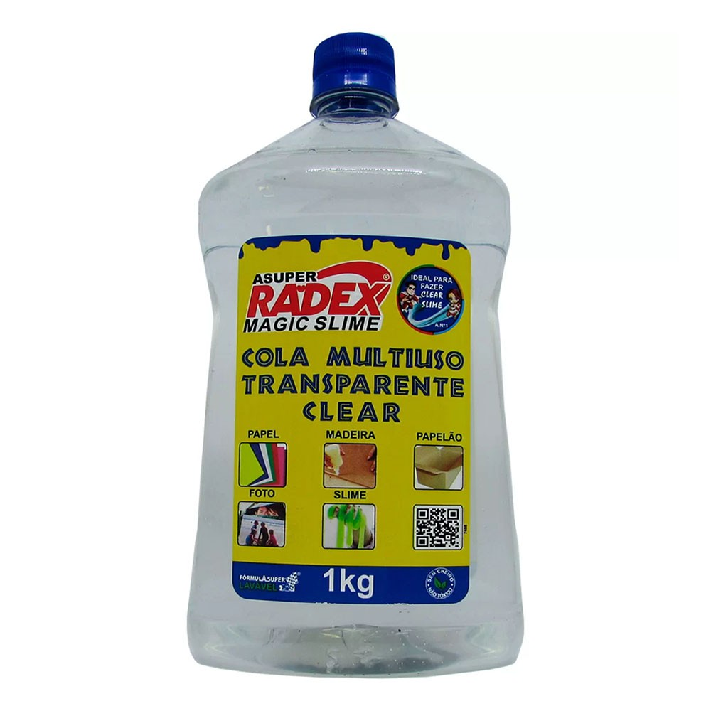 Cola Multiuso Magic Slime Clear Transparente 1kg Radex  - INK House