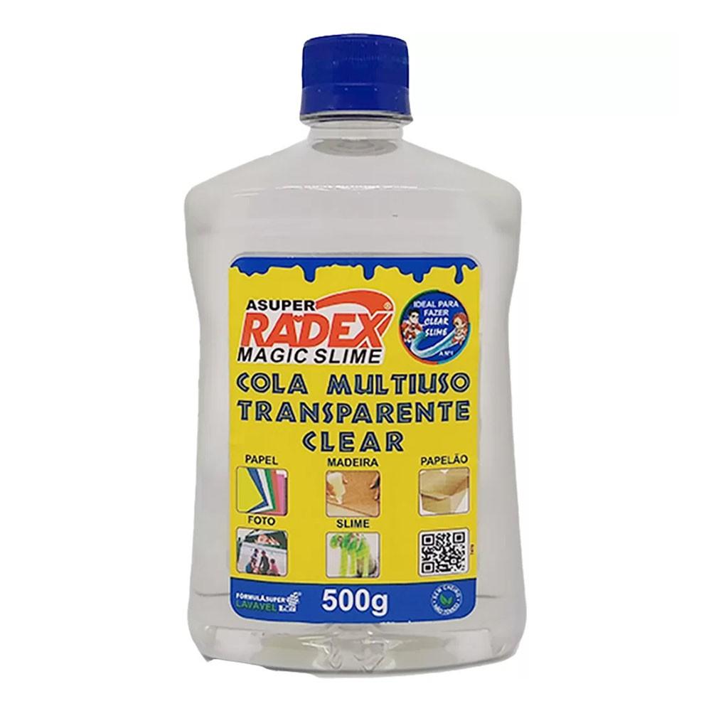 Cola Multiuso Magic Slime Clear Transparente 500g Radex