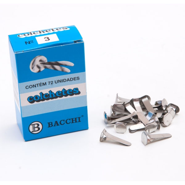 Colchete Latonado 03 72 Unidades Bacchi