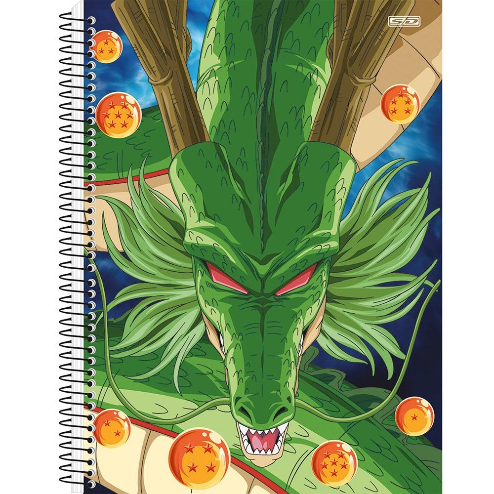 Caderno Universitário 1x1 CD 80 Folhas Dragon Ball 2 São Domingos