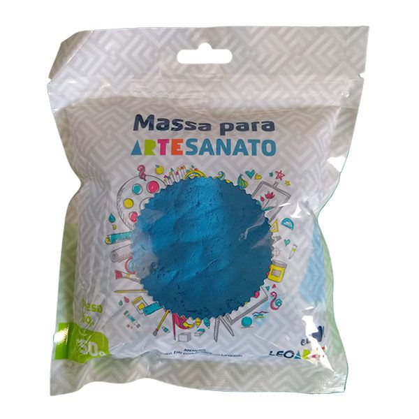 Massa para Artesanato Lisa Azul 50g Leonora