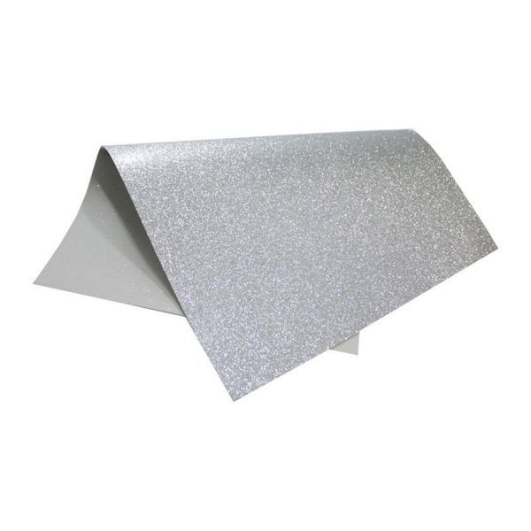 Placa de EVA Glitter Prata 2mm 40cm x 60cm Leo e Leo  - INK House
