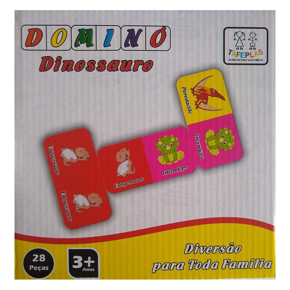 Dominó Dinossauro 28 Peças Tafeplas  - INK House