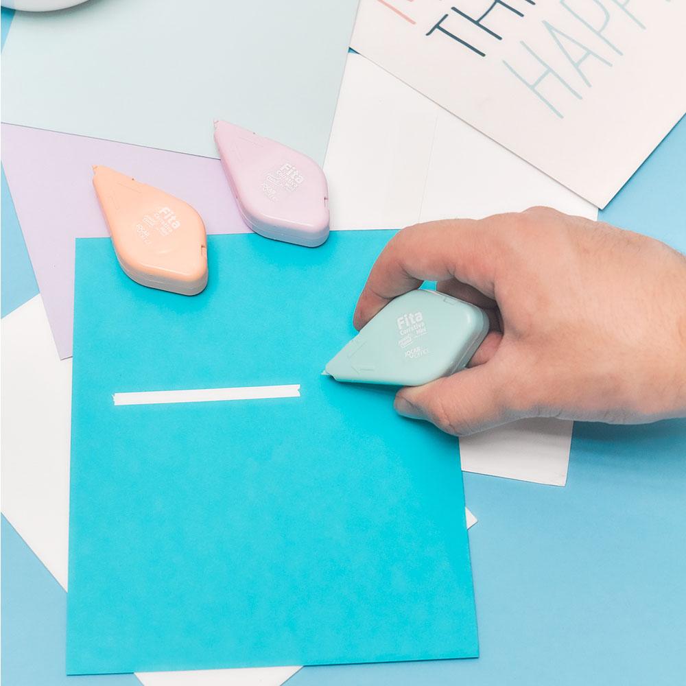 Fita Corretiva Mini Pastel 5mm x 6m Jocar Office