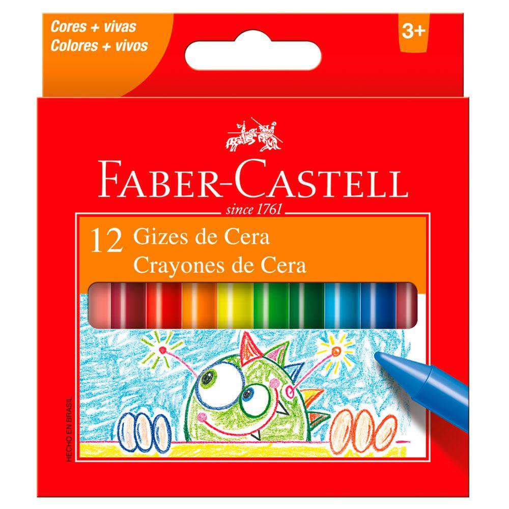 Giz de Cera 12 Cores Faber Castell