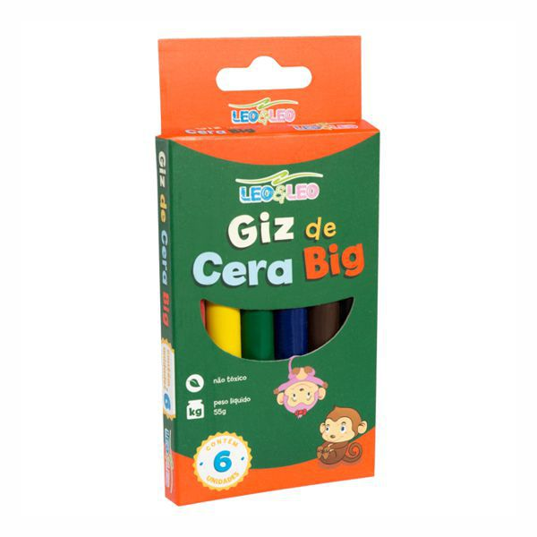 Giz de Cera Big 6 Cores Leo e Leo  - INK House