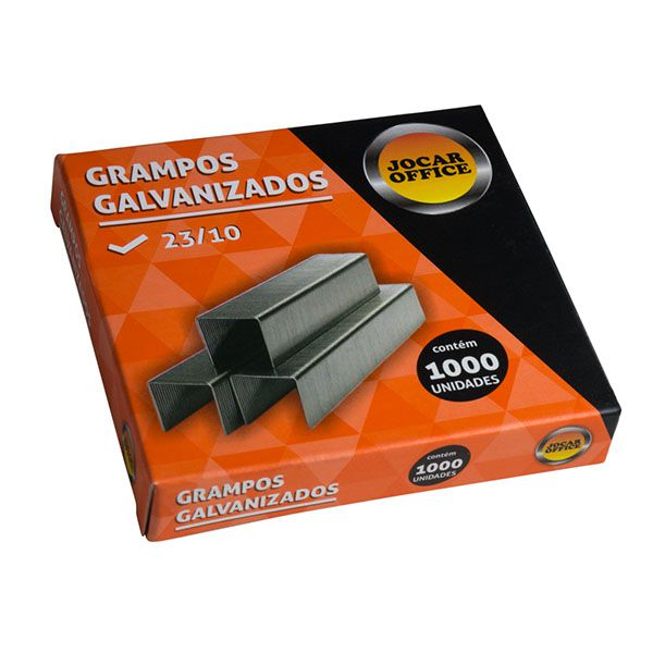 Grampo 23/10 Galvanizado 1.000 Unidades Jocar Office