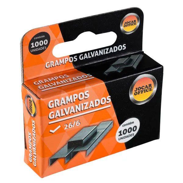 Grampo 26/6 Galvanizado 1.000 Unidades Jocar Office