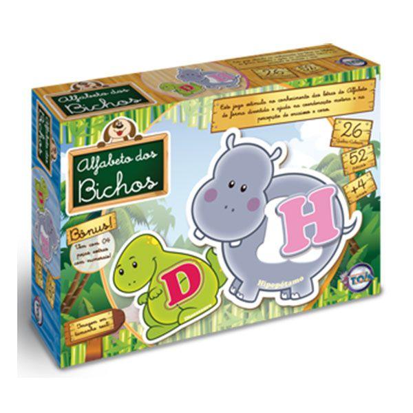 Jogo Alfabeto dos Bichos Brinquedo Educativo Toia  - INK House