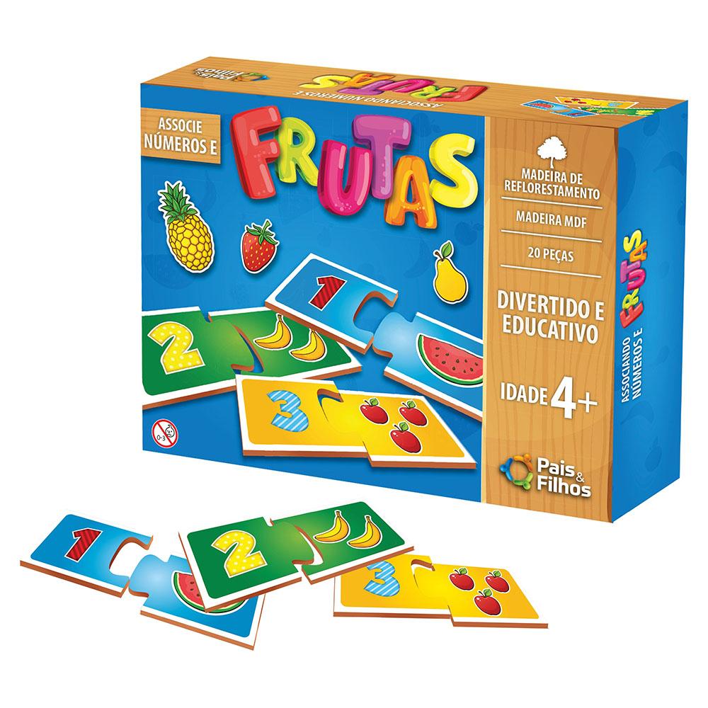Jogo Associe Números e Frutas Pais e Filhos