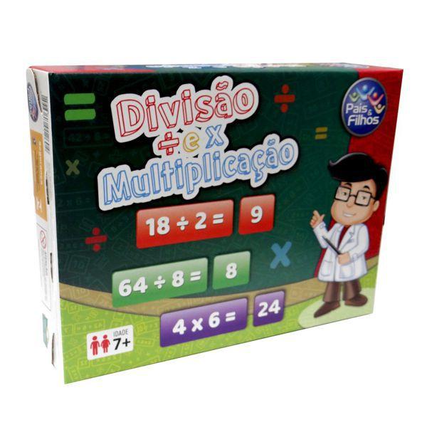 Jogo Divisão e Multiplicação Brinquedo Educativo Pais e Filhos