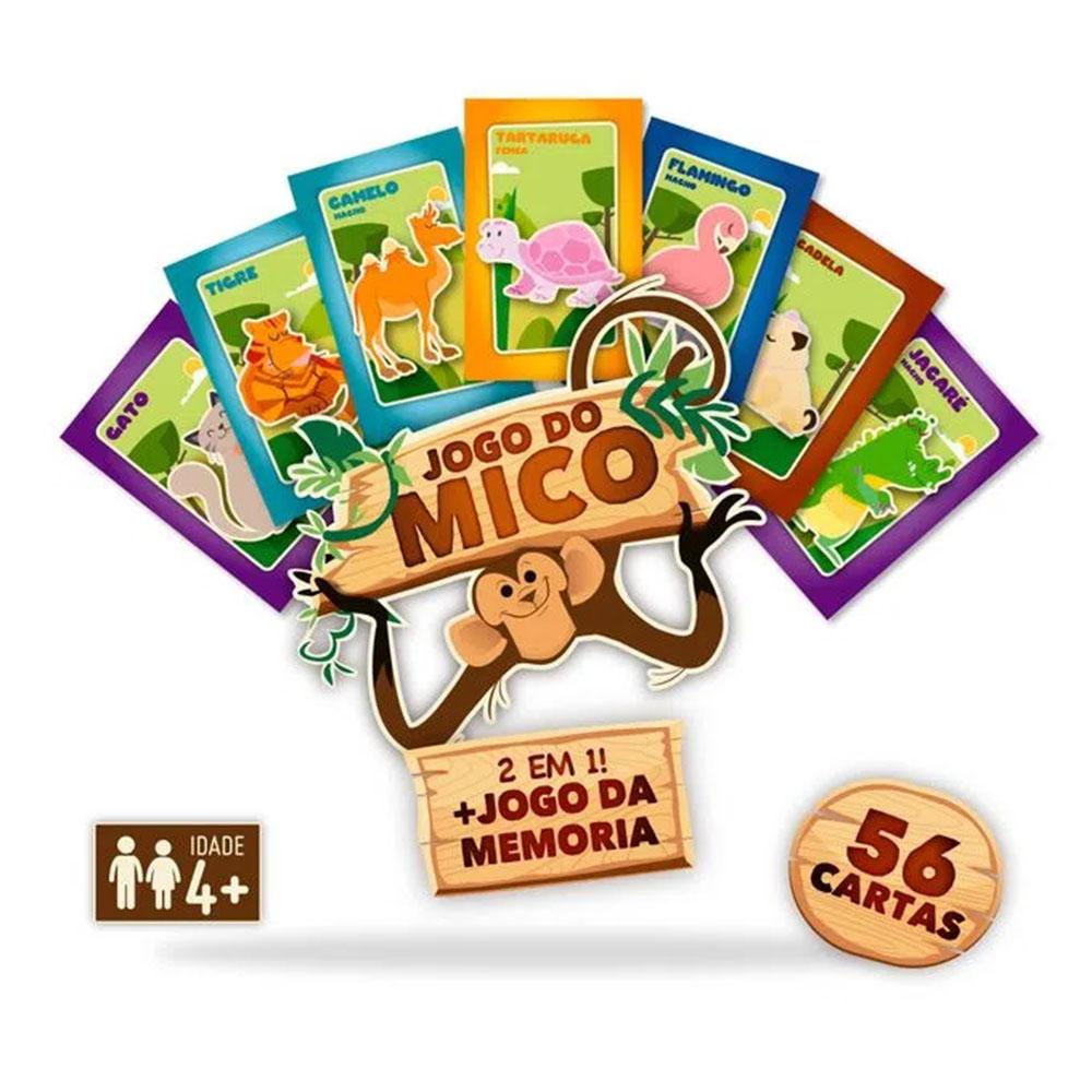 Jogo do Mico e Memória 2 em 1 Pais e Filhos