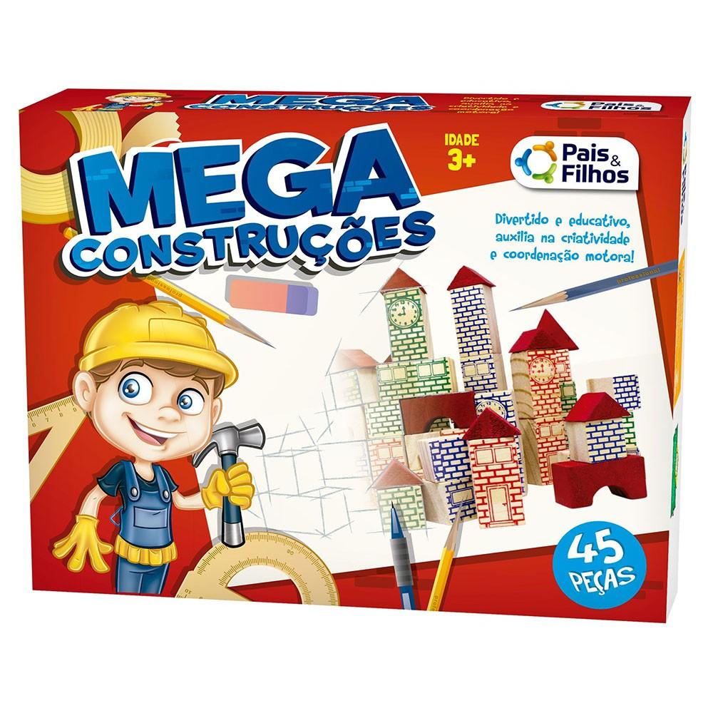 Jogo Mega Construções 45 Peças Pais e Filhos