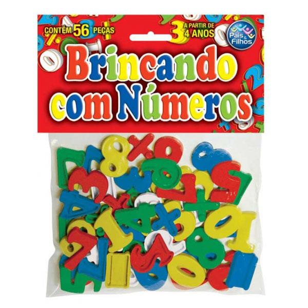 Jogo Pedagógico Brincando com Números 56 Peças Pais e Filhos