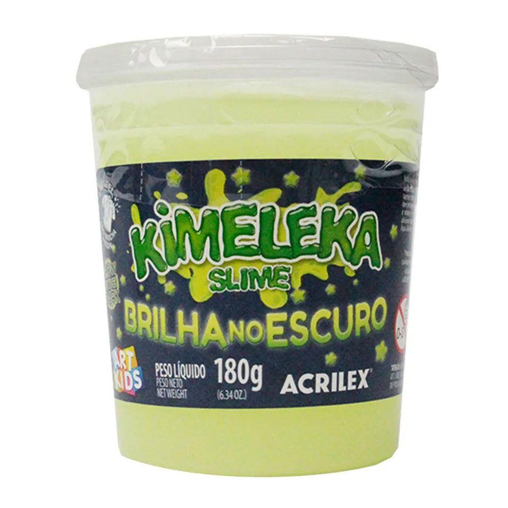 Kimeleka Slime Brilha no Escuro 180g Amarelo Fosforescente Acrilex  - INK House