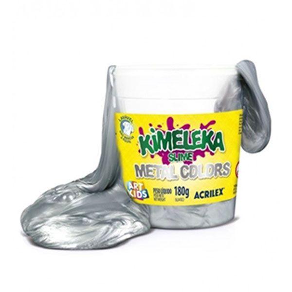 Kimeleka Slime Metal Colors 180g Prata Acrilex