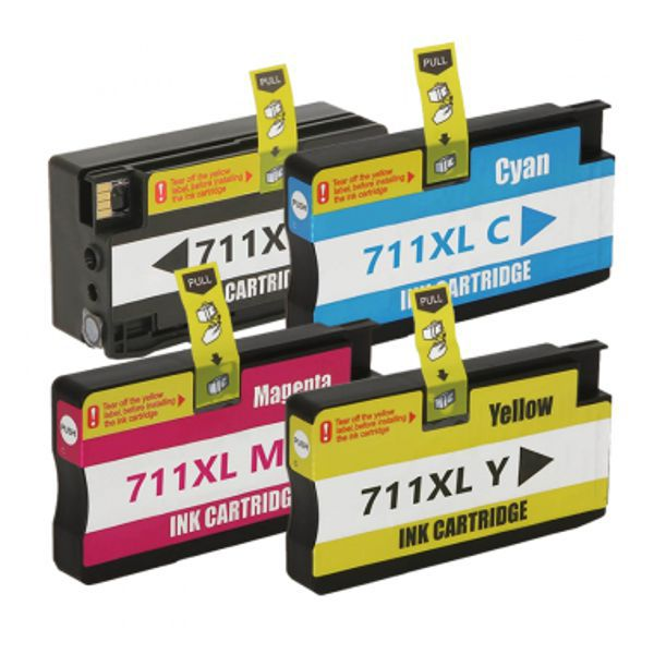 Kit Cartucho Compatível HP 711XL CZ130A CZ131A CZ132A CZ133A T120 T520  - INK House