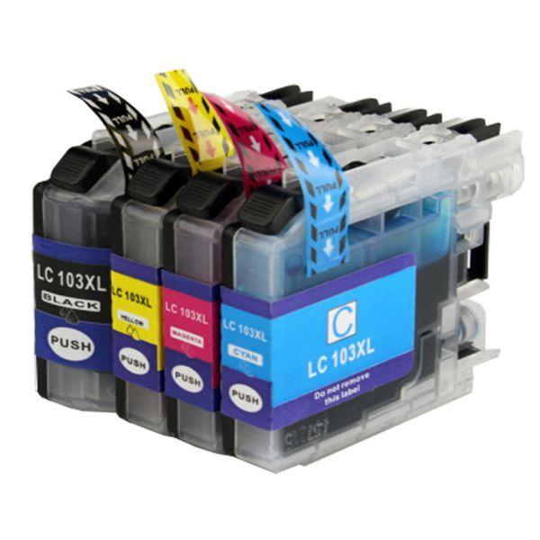 Kit Cartucho Compatível Brother LC103 LC107 MFC-J4310DW MFC-J4410DW MFC-J4510DW  - INK House