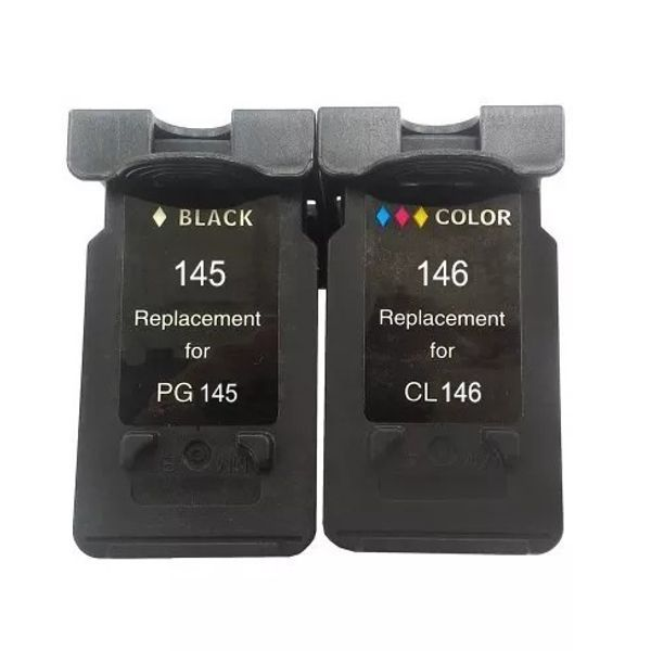 Kit Cartucho Compatível Canon PG-145 CL-146 MG2410 MG2510 MG2910 MG3010 IP2810  - INK House