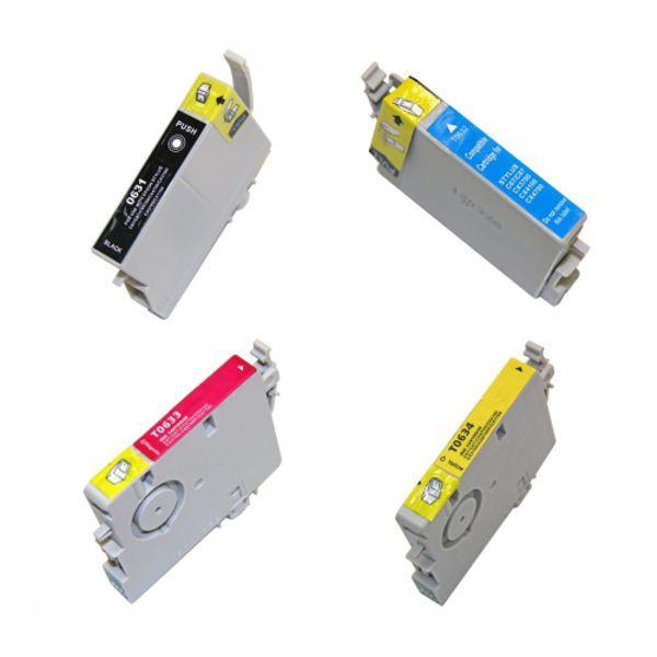Kit Cartucho Compatível Epson 63 T063120 T063220 T063320 T063420