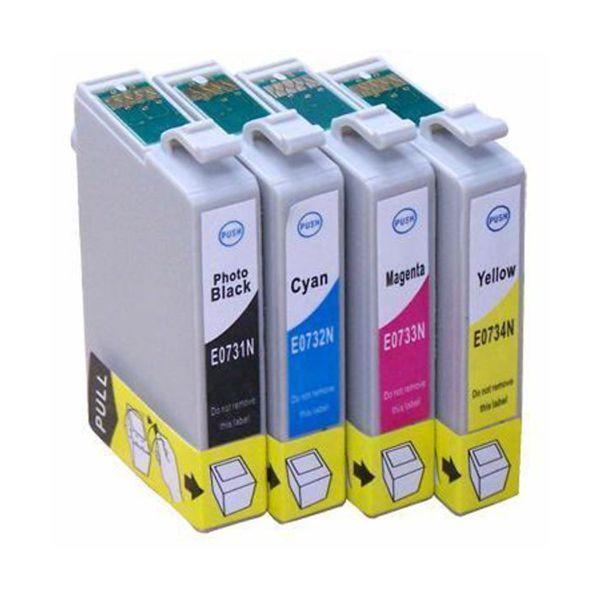 Kit Cartucho Compatível Epson 73N T073120 T073220 T073320 T073420