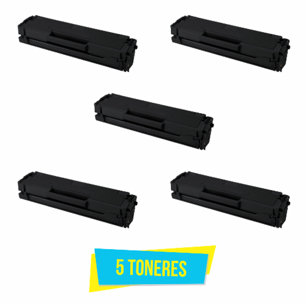 Kit com 5 Toner Compatível Samsung MLT-D101S D101S D101 ML2160 ML2165 SCX3400 SCX3405 SF760