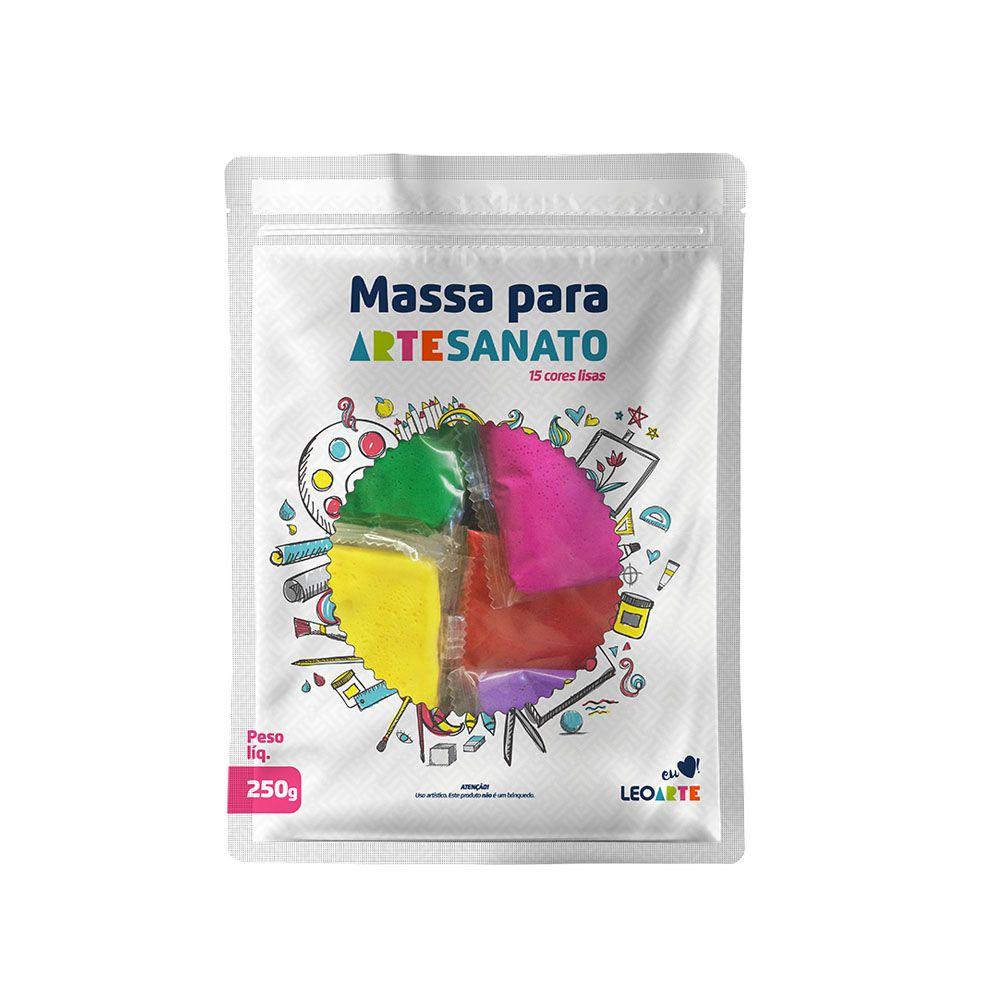 Kit Massa para Artesanato Lisa 15 Cores 250g Leonora  - INK House