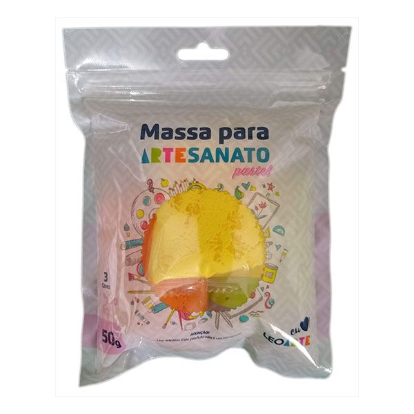 Kit Massa para Artesanato Lisa Pastel 1 50g Leonora