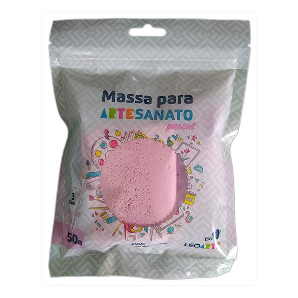 Kit Massa para Artesanato Lisa Pastel 2 50g Leonora