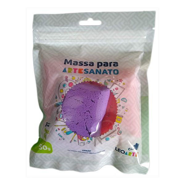 Kit Massa para Artesanato Lisa Rosa 50g Leonora  - INK House