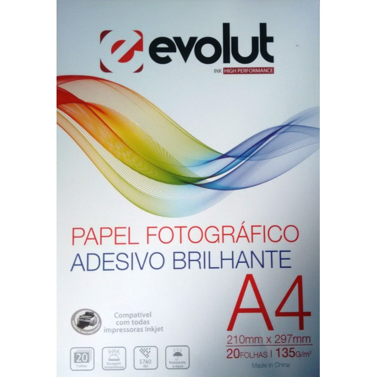 Kit Papel Fotográfico A4 Adesivo Brilhante 130g 120 folhas  - INK House