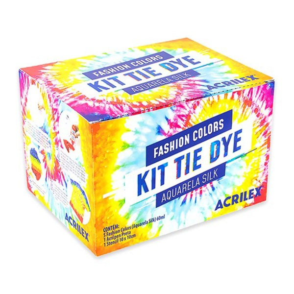 Kit Tie Dye Aquarela Silk Fashion Colors Acrilex