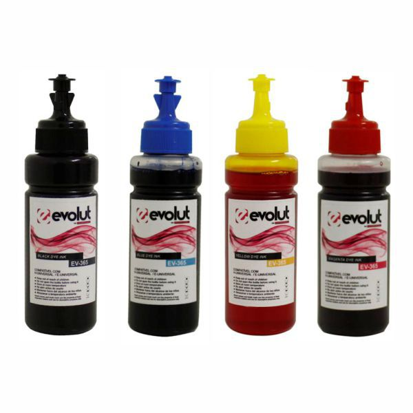 Kit Tinta Corante Universal Compatível Epson - 70ml  - INK House